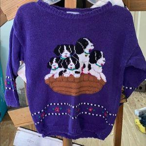 Girls dog sweater